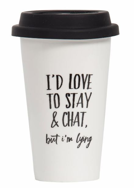 General Eclectic Takeaway Cup - Love To Stay & Chat