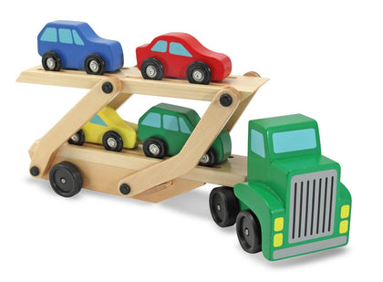 Melissa & Doug: Wooden Car Carrier Truck