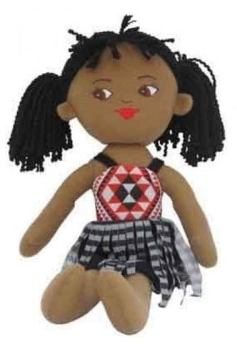 NZ Gift: Soft Doll Maori Girl