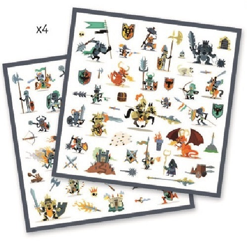 Djeco: 160pc Stickers Set (Knights)