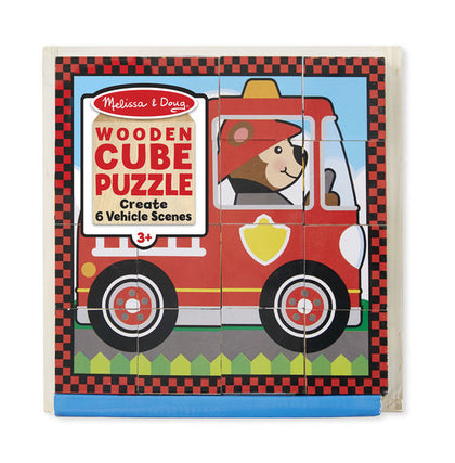 Vehicles Cube Puzzle - Melissa & Doug