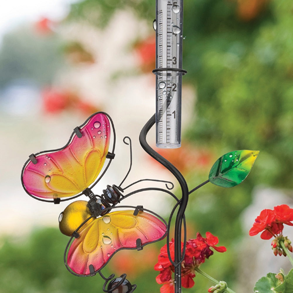 Regal Art & Gift: Rain Gauge Stake - Butterfly