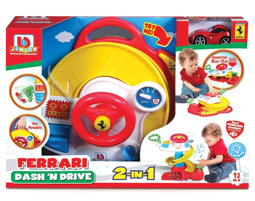 BB Junior: Ferrari - Dash 'n Drive Playset with F12berlinetta