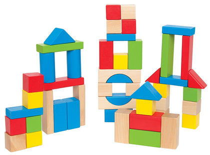 Hape: Maple Wood Blocks Set - 50pc