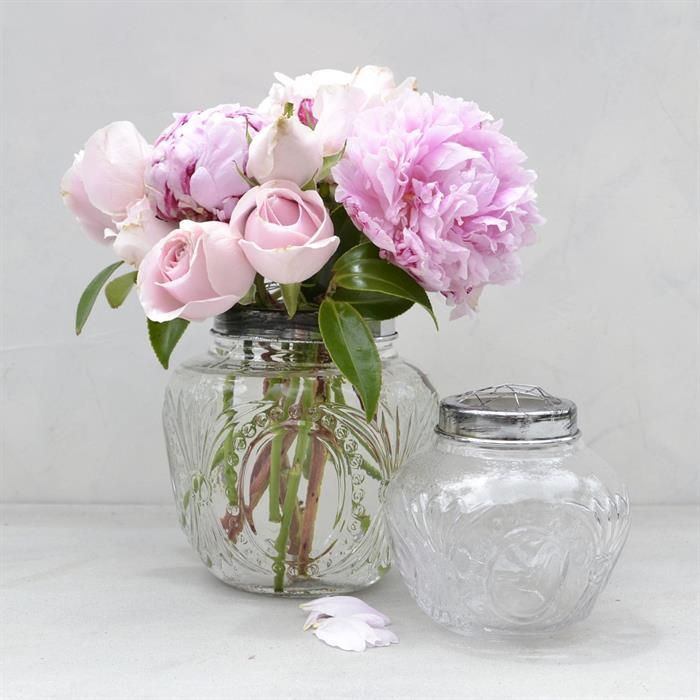 Clear Flower Globe - Small