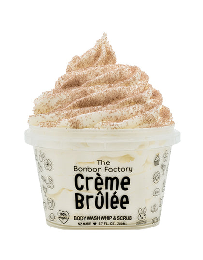 The Bonbon Factory Body Wash & Scrub - Creme Brulee (200g)