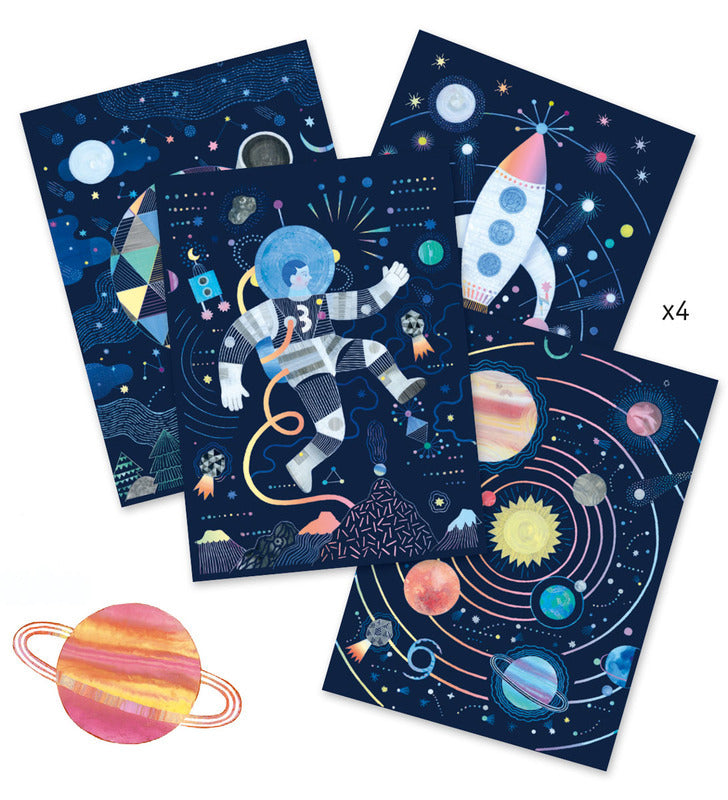 Djeco: Scratch Cards - Cosmic Mission