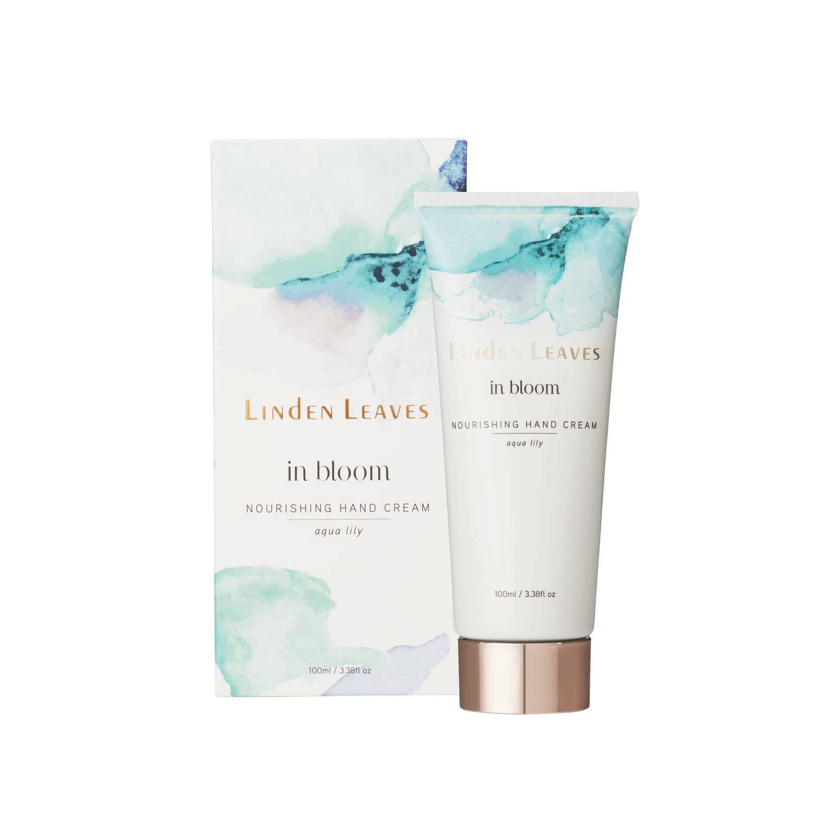 Linden Leaves: In Bloom Nourishing Hand Cream - Aqua Lily (100ml)