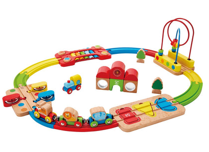 Hape: Rainbow Puzzle Railway Playset