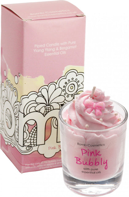 Bomb Cosmetics Piped Candle - Pink Bubbly