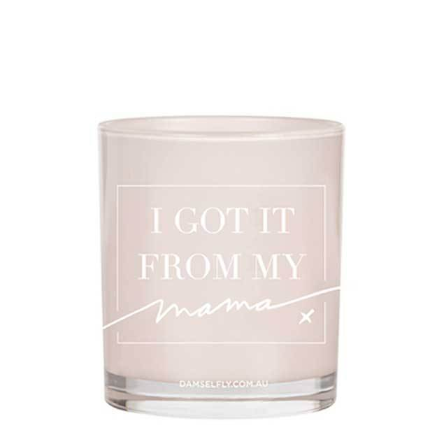 I Got It From My Mamma Candle (Large, Blush)