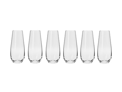 Krosno: Harmony Stemless Flute Set of 6 (230ml)