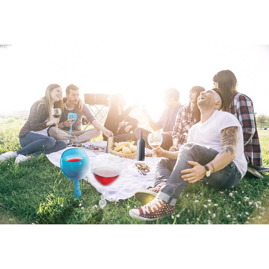 AmphibiGlass - Floating Wine Glass (Assorted Colours)