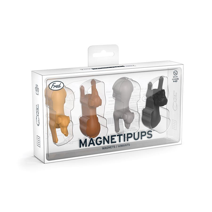 Fred: MagnetiPups - Set 4 Fridge Magnets