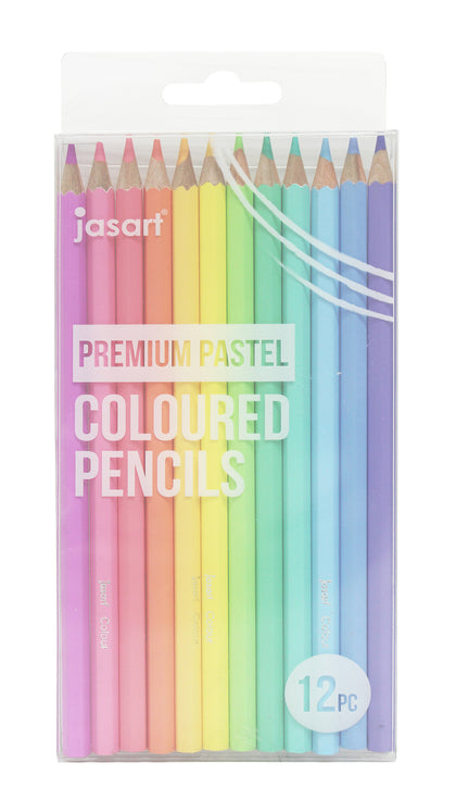 Jasart: Premium Pastel Pencil Set - 12 Pack