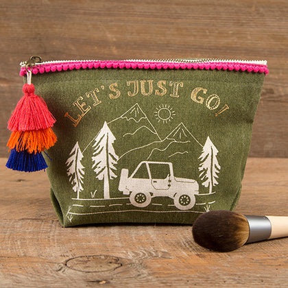 Natural Life: Canvas Pouch - Let's Just Go!