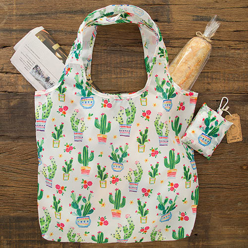 Natural Life: Fold-up Shopping Bag - Cactus