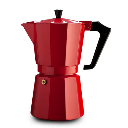 Pezzetti: Italexpress Aluminium Coffee Maker - Red (6 Cups)
