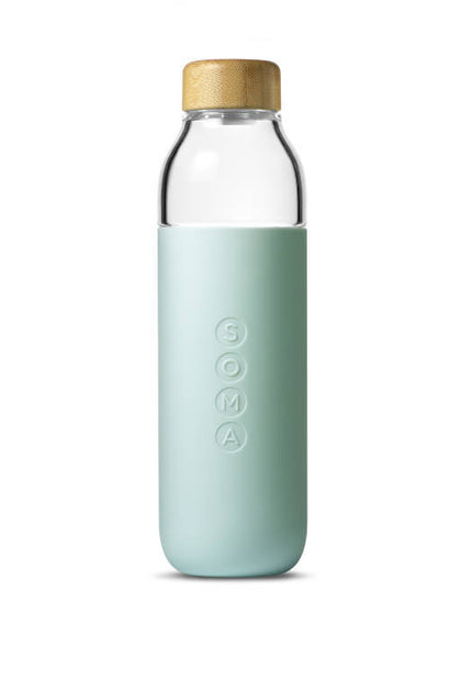 Soma Water Bottle Glass 470ml Mint