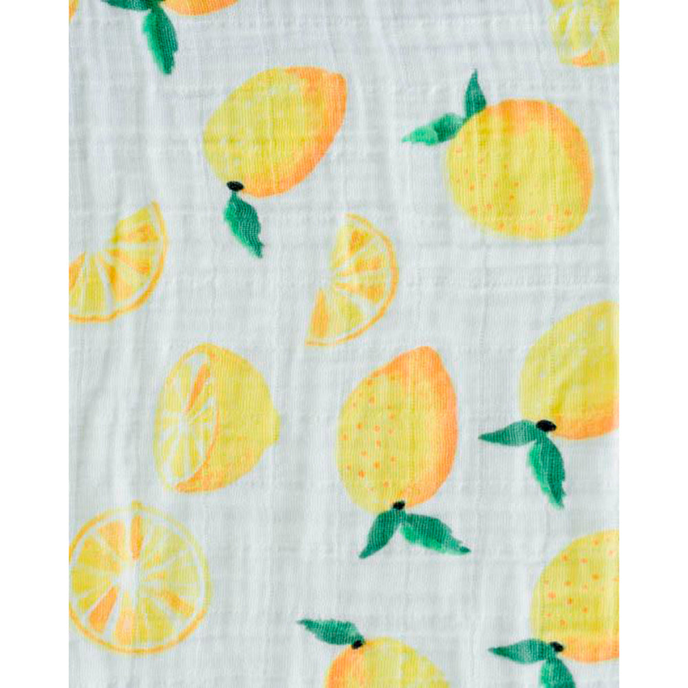Little Unicorn: Cotton Muslin Swaddle - Lemon (Single)