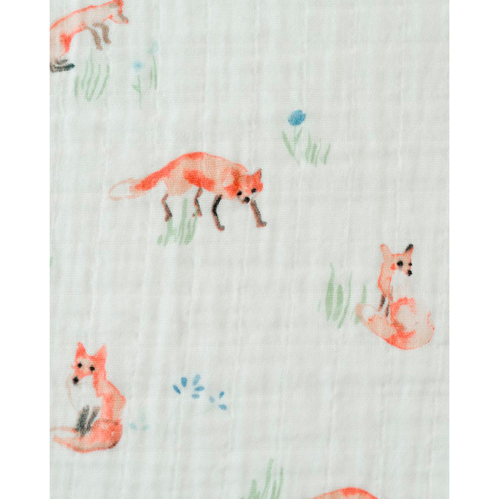Little Unicorn - Single Cotton Muslin Swaddle - Fox
