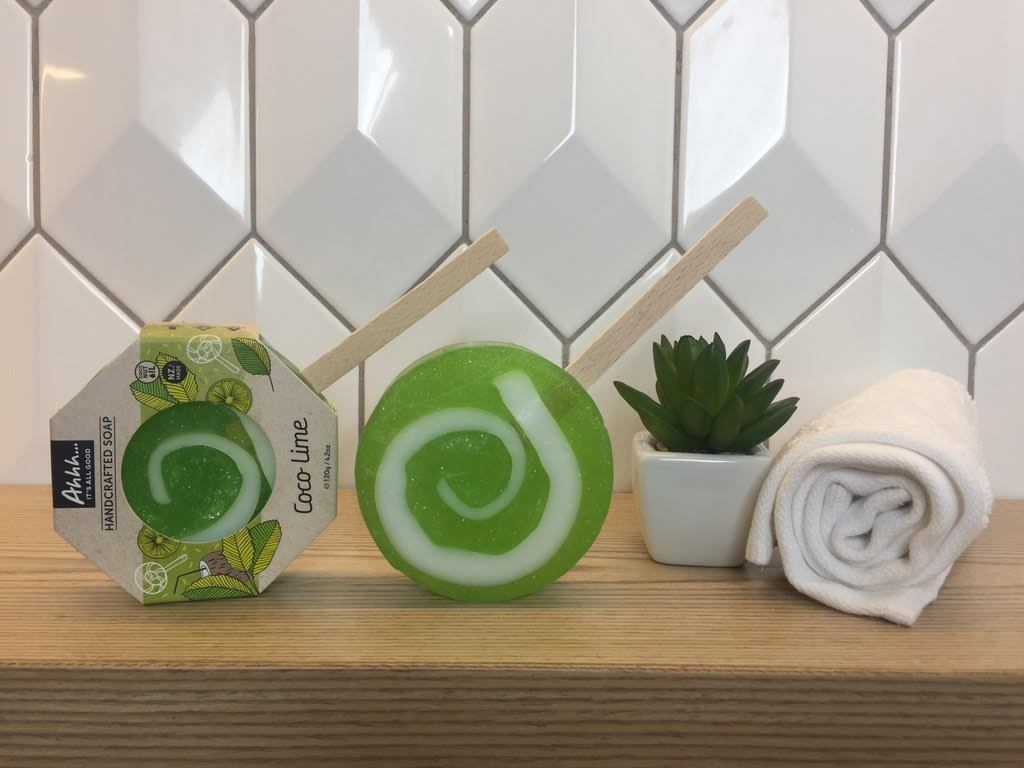 Ahhh Soaps Lollipop Soap - Coco & Lime (120g)