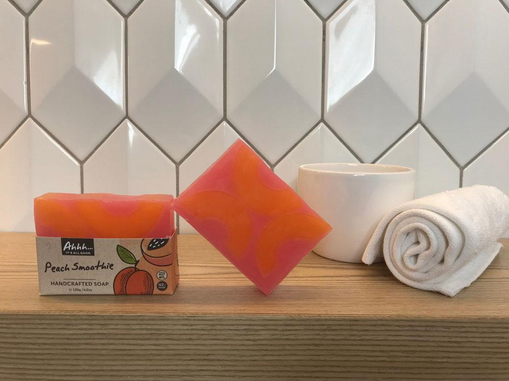Ahhh Soaps Handcrafted Soap - Peach Smoothie (120g)