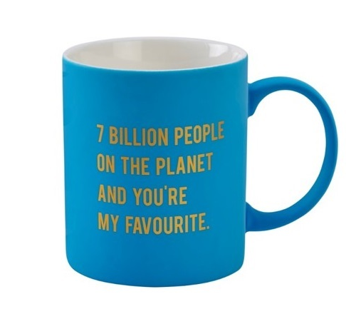 Cloud Nine Soft Touch Gift Mug - 7 Billion People