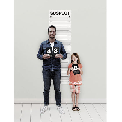Suck UK: Mugshot Height Chart