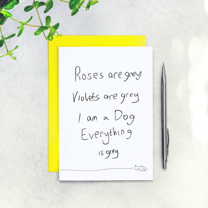 Designed By Dog: Roses are Grey Anniversary Love Card