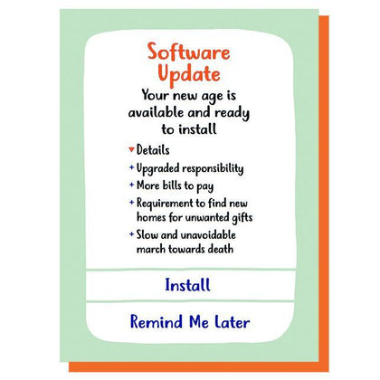 Graph: Software Update Birthday Card