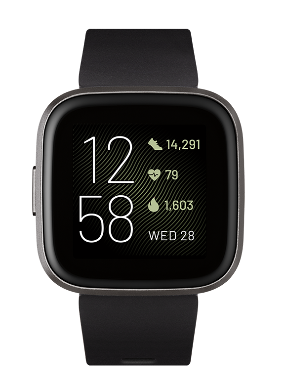 Fitbit Versa 2 Health & Fitness Smartwatch - Black/Carbon
