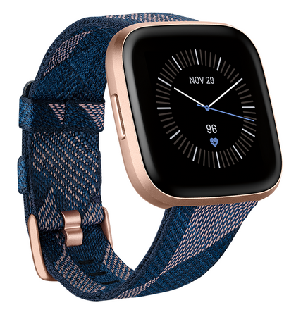 Fitbit Versa 2 SE Health & Fitness Smartwatch - Woven Navy/Pink