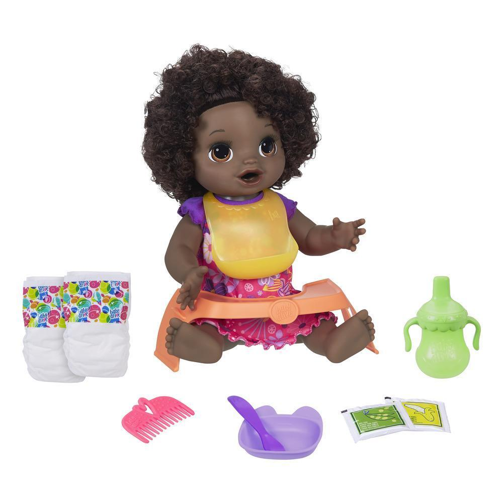 Baby Alive: Happy Hungry Baby - (Dark Hair/Curls)