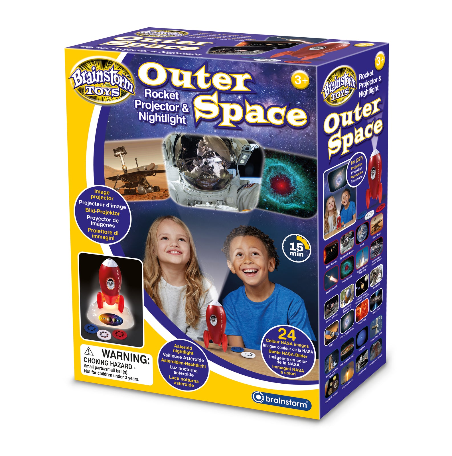 Brainstorm Toys: Outer Space Rocket Projector & Nightlight
