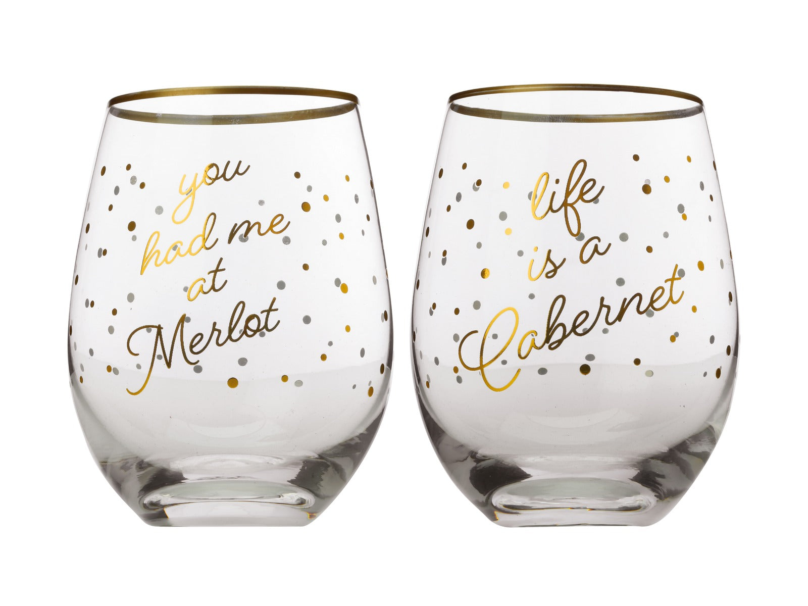 Maxwell & Williams Celebrations Stemless Glasses - Merlot / Cabernet
