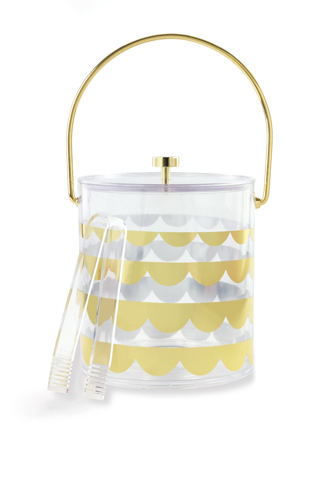 Kate Spade: Acrylic Ice Bucket - Scallop