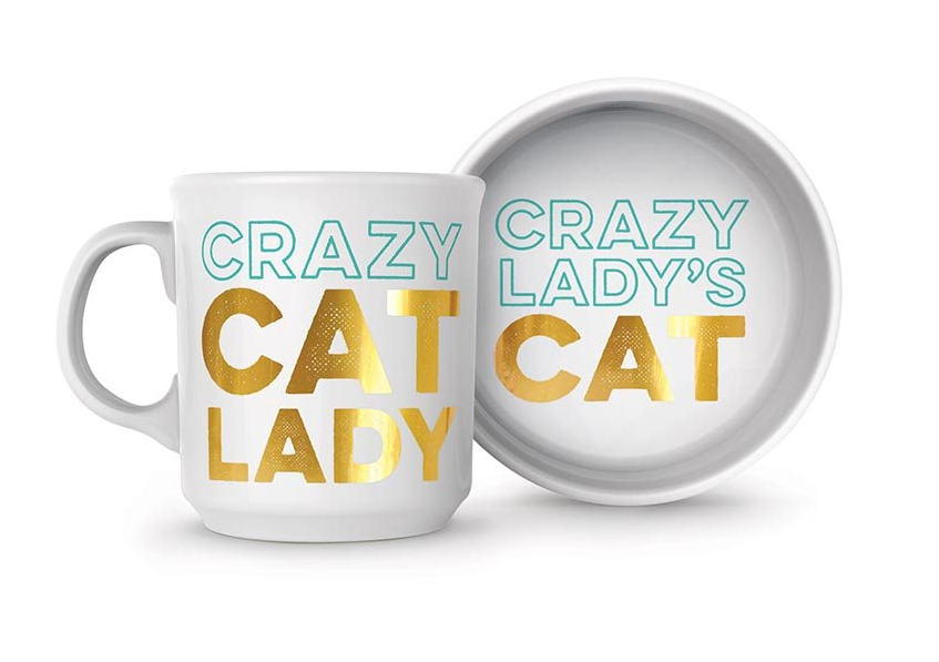 Fred Crazy Cat Lady - Bowl and Mug Set