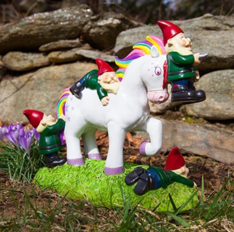 BigMouth Unicorn Gnome Massacre Garden Gnome