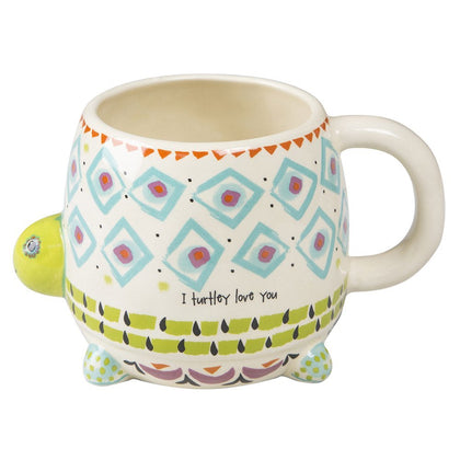 Natural Life: Ceramic Folk Mug - Turtley Love You