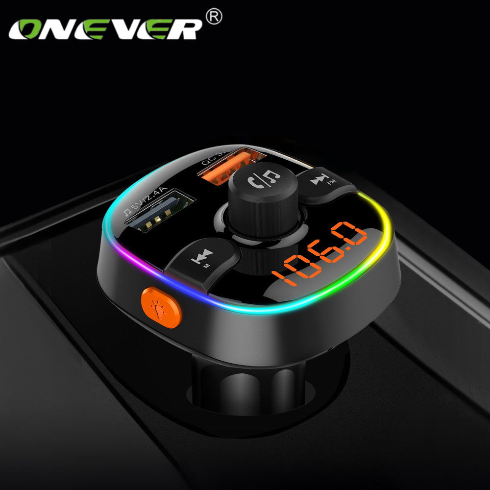 Bluetooth LED FM Transmitter with QC3.0 Charging