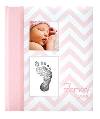 Pearhead: Chevron Baby Book - Pink