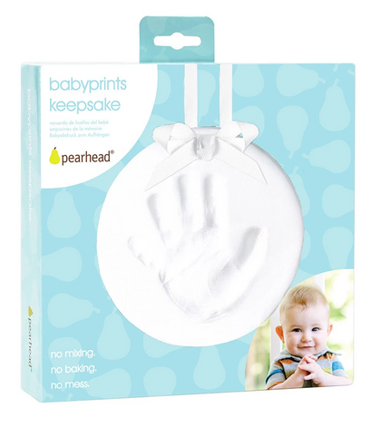 Pearhead: Baby-Prints Keepsake - White