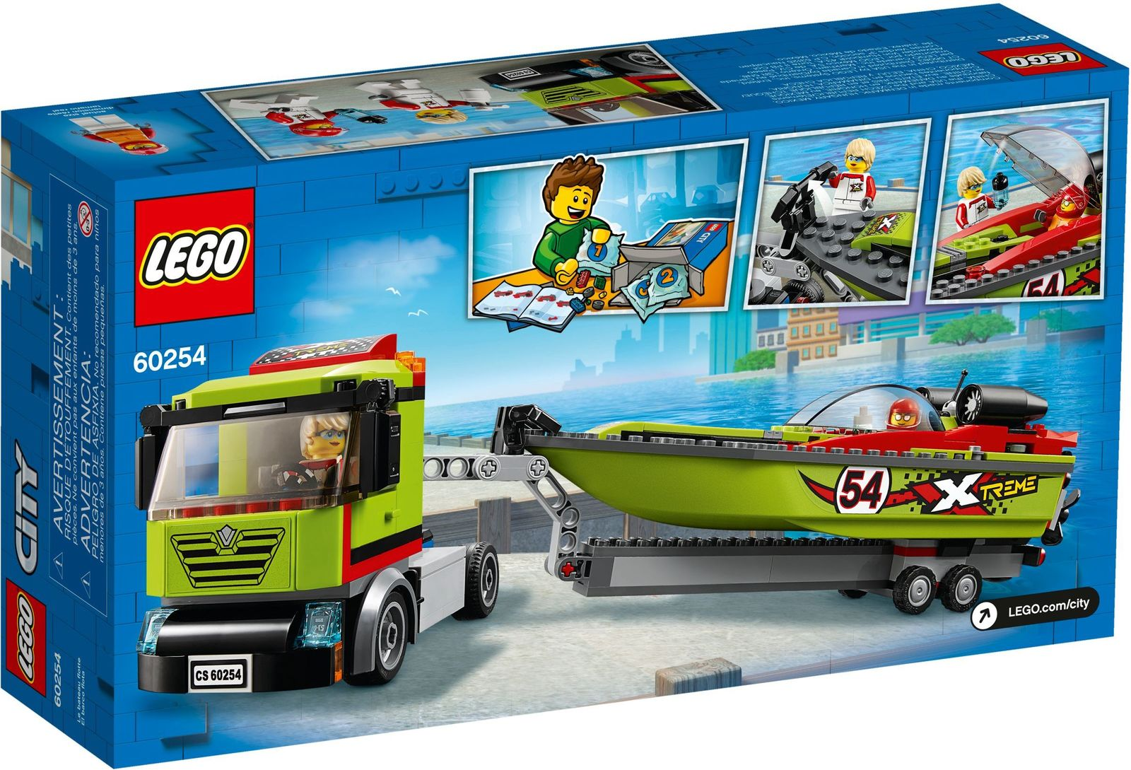 LEGO City: Racing Boat Transporter - (60254)