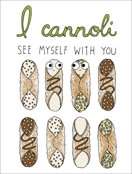 Cannoli See Myself With You Anniversary Love Card