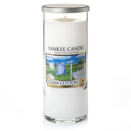 Yankee Candle: Large Pillar Candle - Clean Cotton