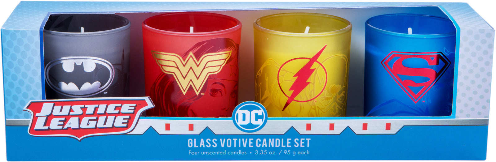 DC Comics: Justice League Glass Votive Candle Set (Set Of 4)