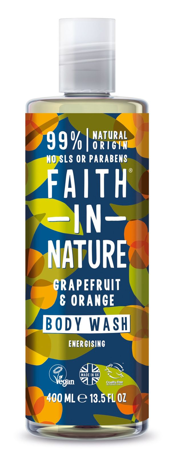 Faith In Nature: Energising Grapefruit & Orange Body Wash (400ml)