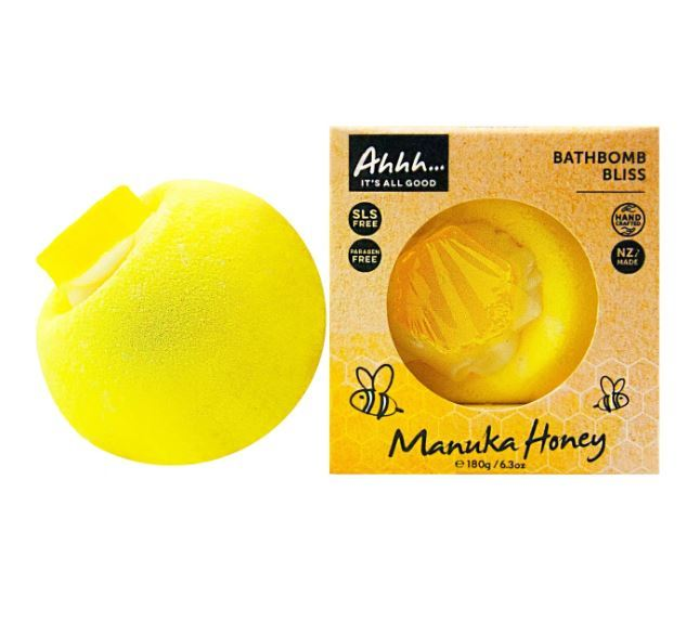 Ahhh Soaps Bath Bomb - Manuka Honey (180g)