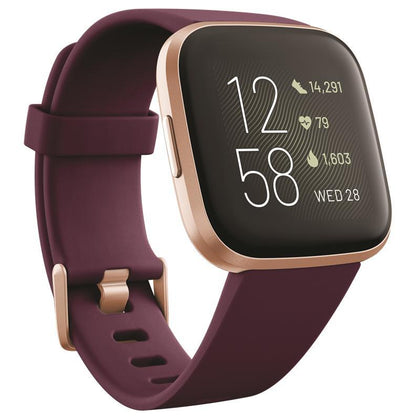 Fitbit Versa 2 Health & Fitness Smartwatch - Bordeaux/Copper Rose
